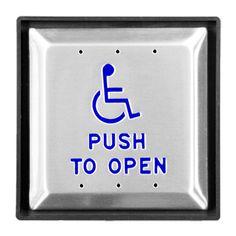 Automatic Door Opener: Door opener buttons for handicap door openers and ADA door openers mounted at AFF Door Switch, Bathroom Safety, Shower Chair, Door Opener, Wire, Coding, Indoor, Plates, Project 3