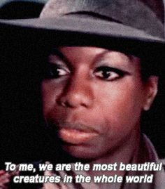 """Vintage tips: Life, style and fashion • nina simone • black lives matter • civil rights movement • what happened miss simone • 1960s • gif — hennyproud: """"To me, we have a culture that is..."""