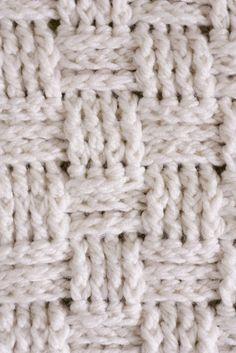 weftwarp:  (via Basket weave baby blanket pattern | Crochet)