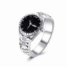 2017 Hot Gorgeous New Fashion Silver Jewelry, Silver Plated Cubic Zirconia Watch Ring Party/Wedding Jewelry For Women #Affiliate