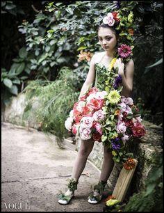 Avant Garde Flower Dresses made by Loren Franco Designs (www.LorenFranco.com) Photographer: Edward Franco Photography (www.Francoimages.com) Model: Miya