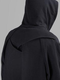 Y/Project - Sweaters Long Hoodie, Black Hoodie, Long Cut, Ss16, Hustle, Sportswear, Menswear, Turtle Neck, Hoodies