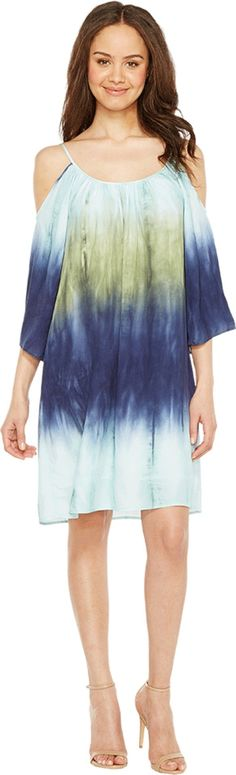 Karen Kane Women's Cold Shoulder Ombre Dress Print Dress