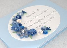 Sapphire+65th+wedding+anniversary+card £8.00