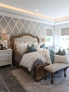 Modern French Country Bedroom- Tap the link now to see our super collection of a. Modern French Co Rustic Bedroom Design, Modern Farmhouse Bedroom, Country Farmhouse Decor, Home Decor Bedroom, Modern Bedroom, Bedroom Designs, French Bedroom Decor, Rustic Decor, Farmhouse Style