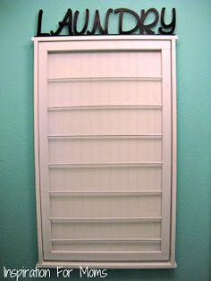 Inspiration For Moms: I Finished It Friday: Ballard Designs Inspired Beadboard Drying Rack Tutorial