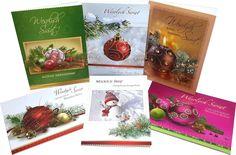 Secular Polish Christmas Greeting Cards, Set of 6