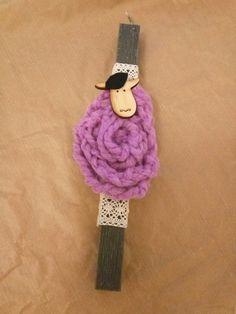 Πασχαλινές Λαμπάδες - sheep  - wool