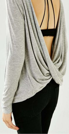 draped open back top