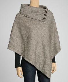 Black & White Herringbone Poncho   Daily deals for moms, babies and kids