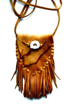 Medicine Pouch.  /Love this, my medicine pouch has beads on it, it's awesome EL./