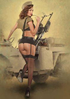 women soldier pin up - Google zoeken