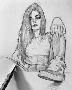12 Sketches and 1 Realistic Pencil Portrait. Click the image, for more art by Ef… 12 Sketches and 1 Realistic Pencil Portrait. Click the image, for more art by Efrain Malo Pencil Art Drawings, Cool Art Drawings, Art Drawings Sketches, Horse Drawings, Pencil Sketch Art, Sketches Of Girls, Pencil Sketches Easy, Pencil Portrait Drawing, Realistic Pencil Drawings
