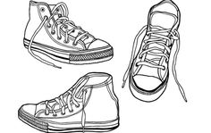 This latest collection of free vector graphics from Blog.SpoonGraphics features a set of three illustrated sneakers with a rough, hand-drawn appearance that can give a stunning and cool effect when used together with your personal illustrative work. As always, download and use freely in your personal and commercial projects.