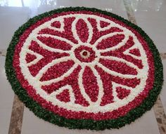 Rangoli Designs Flower, Colorful Rangoli Designs, Rangoli Designs Images, Rangoli Designs Diwali, Kolam Rangoli, Flower Rangoli, Flower Designs, Diwali Decorations At Home, Flower Decorations