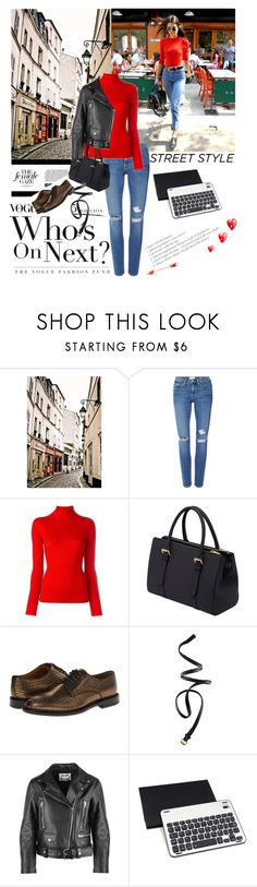 """Streetstyle"" by lseed87 ❤ liked on Polyvore featuring WALL, Frame, Blumarine, Mulberry, Paul Smith, H&M, Acne Studios, GetTheLook, StreetStyle and jenner"