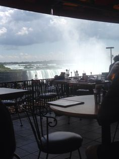My own picture from the falls in Canada. Would love to go back, and if I ever do I want to eat here again. Lunch with a view of the falls