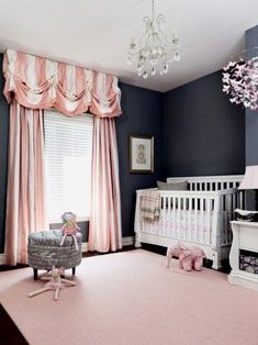 Pastel tones of pink and gray go very well in the decoration of the nursery, especially for a girl room. Read more: http://howtobuildahouseblog.com/gray-and-pink-a-unique-colour-combination-for-your-home/#ixzz2TiE0HB8D