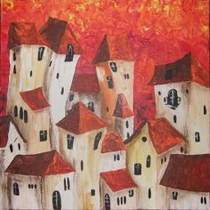 #Italia #cityscape #art #artprint #painting