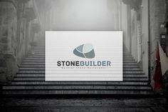 Stone Builder - Logo Design by CongruentGraphics on Creative Market stone logo,	builder logo,	floor,	floor logo,	stone design,	natural logo,	grey ogo,	clean logo template,	corporate, modern,	serious,	vector stone,	rock logo,	rock design,	flooring,	floor paving,	floors