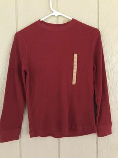 Nwt Urban Pipeline Up Boys Shirt Waffle Knit Long Sleeve Thermal Size M Rich Red #UrbanPipeline #Everyday