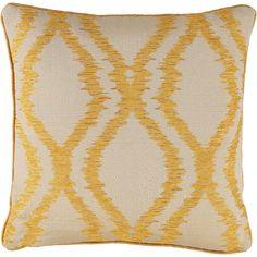 Yellow Wave Square Cushion 48cm x 48cm - TK Maxx