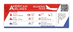 American Airlines Boarding Pass - Final by Jordan.A., via Flickr