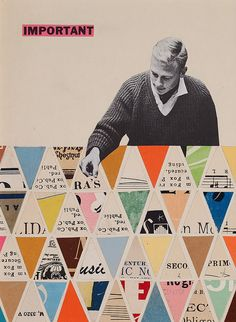 "wordsandeggs: ""Important"" - Fabulous geometric collage by Fred One Litch. Via the-life-enigmatic: important by Fred One Litch on Fl Collages, Collage Art, Poster Collage, Color Collage, Graphic Design Illustration, Graphic Art, Illustration Art, Cristiana Couceiro, Design Art"
