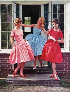 Eastman 1960 ~ I like the skirt on the blue dress