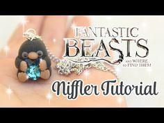 Fantastic Beasts Cute Niffler polymer clay charm tutorial