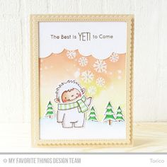 Welcome to Day 4 of the MFT October Release Countdown! Are you YETI for a new stamp set from Birdie Brown line ? LOL! Today I'm introducing...