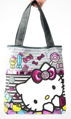 Cute and yummy #Hello Kitty candy tote by #Loungefly - for carrying our fave snacks!