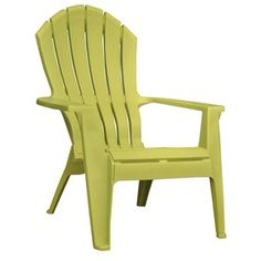 Citron green adirondack chair for the front porch? Cute, modern color but coordinates well with the garden and house.