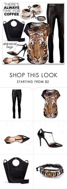 """""""Tiger Print Plus Size Baggy Top :: Street Style"""" by jecakns ❤ liked on Polyvore featuring Helmut Lang and Elizabeth and James"""