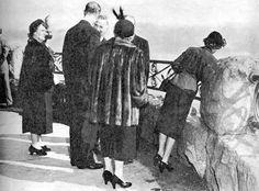 Princess Elizabeth, Prince Philip Duke of Edinburgh Viewing the Canadian Horseshoe Falls, October 14, 1951