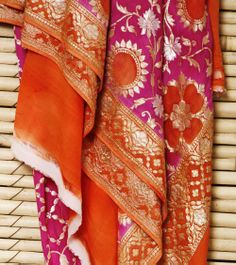 Pink Banarasi Khadi Georgette Dupatta beautiful i want it, where to buy it?
