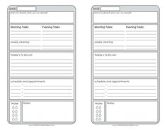 Free Printable Daily Planner | Planner Pages- half page