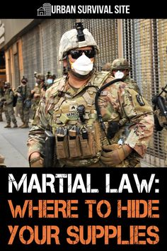 If the government declares martial law, they may go door to door searching for hidden survival supplies. Here's where to hide them. Survival Life Hacks, Survival Supplies, Camping Survival, Survival Prepping, Survival Skills, Emergency Preparedness Kit, Emergency Preparation, Urban Survival, Homestead Survival
