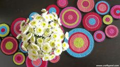 Plastic Canvas Table Runner by CraftyPod, via Flickr