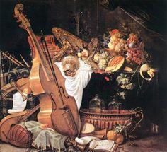 TICMUSart: Vanitas Still-Life with Musical Instruments - Cornelis de Heem (1661) (I.M.)