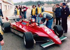 Gilles Villeneuve testing at Imola 1982