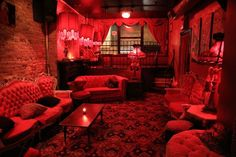 madame-x-upstairs-lounge - Home Page Café Bar, Red Rooms, Gothic House, Red Aesthetic, Madame, Decoration, Room Decor, House Design, Interior Design