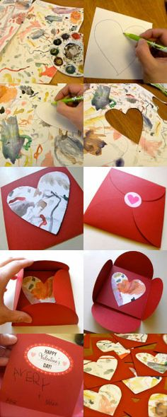 Cool homemade Valentines to make with your kids, not matter how young!