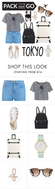 """""""Here we go!"""" by butterfliesinmystomach17 ❤ liked on Polyvore featuring Current/Elliott, Chicnova Fashion, Henri Bendel, Diane Von Furstenberg, Kate Spade, Forever 21, Fendi, vacation, tokyo and airplanes"""