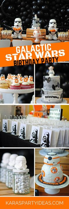 Galactic Star Wars Birthday Party via Kara's Party Ideas - KarasPartyIdeas.com