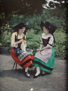 Germany: Georges Chevalier photographed sisters Hélène and Denise Lauth in Alsace during the summer of 1918 just months before the region declared independence from Germany, only to be occupied later by France.
