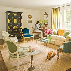 Living Room Decorating Ideas: Combine Collectables < Style Guide: 90 Living Room Decorating Ideas - Southern Living