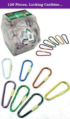 "120 Pieces, Locking Caribiner, In A Variety Of Fashionable Colors, Each 2.5"" Long. This is an easy to operate key ring that you can wear on a belt loop or a purse strap. Simply unscrew to open, and you can add a key, or take one off, or connect or disctonnect the key ring from your clothing. Comes in a rainbow of bright, beautiful colors, suitable for a counter top display of 120 pieces, that will look great alone, or combine this with other display jars for for an outstanding…"