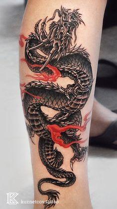 Half Sleeve Tattoos Forearm, Torso Tattoos, Forearm Tattoo Design, Arm Band Tattoo, Body Art Tattoos, Hand Tattoos, Letter Tattoos, Tatoos, Blue Dragon Tattoo