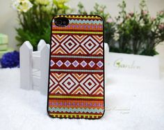 Aztec Pattern - iphone case iphone 4 case iphone 4s Cover case Hard shell apple case DIY